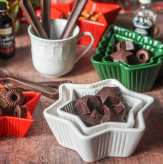 This low carb keto chocolate candy are the easiest thing to make. Just a few ingredients and you can make a tasty low carb Christmas gift or just snack to have on hand while on a low carb diet. Each chocolate candy has only 0.3g net carbs.