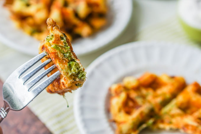 If you are looking for an easy low carb breakfast or snack, try these low carb broccoli & cheddar waffles. Only a few ingredients and you have a savory, gluten free waffle everyone will love. Only 1.7g net carbs per serving.