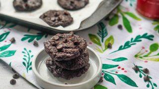 Chocolate Brownie Keto Cookies
