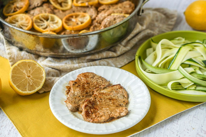 Easy Lemon Butter Pork Tenderloin - a low carb skillet dinner!