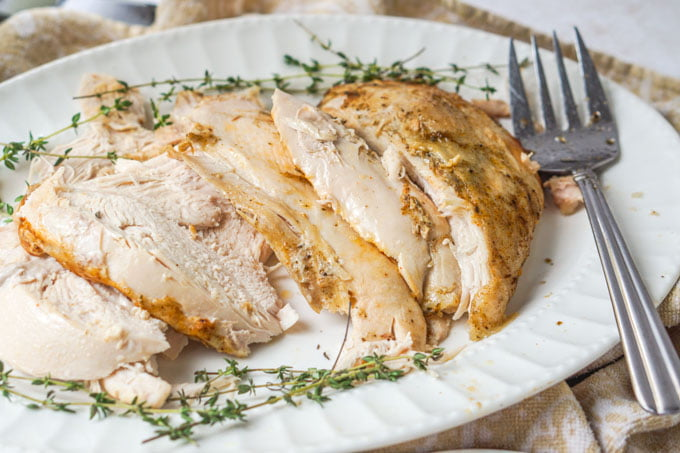 You don't have to wait for Thanksgiving to make this Instant Pot Turkey Breast. In an hour or two you have a turkey dinner along with a low carb turkey gravy! Only 0.8g net carb per serving!
