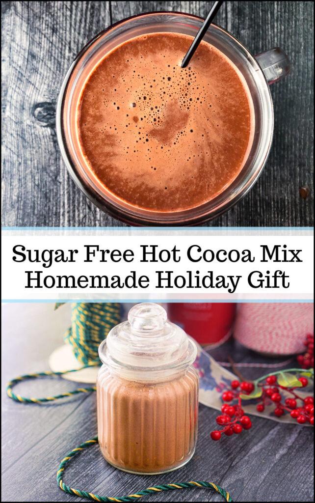 mug of keto hot chocolate with text