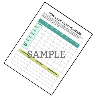 It's a new year and that means resolutions or just a clean slate to start a new way of life. If you are starting a low carb diet, I have a free low carb diet planner for you that will help you stay organized.