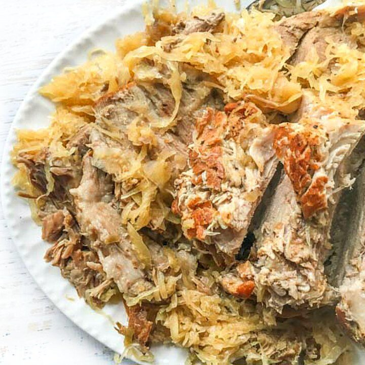 Instant Pot Pork Roast with Sauerkraut