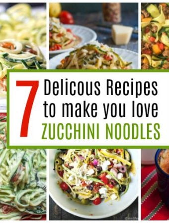 Collage of zucchini noodle recipes