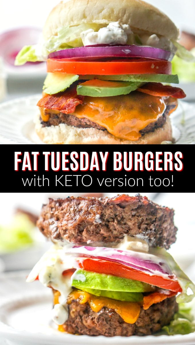 Fat Tuesday Burgers with text