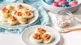 Pepperoni Pizza Flavored Deviled Eggs