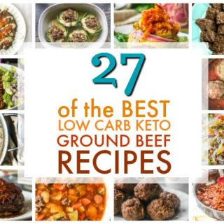 a collage of keto ground beef recipes