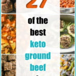 collage of keto ground beef recipes with text