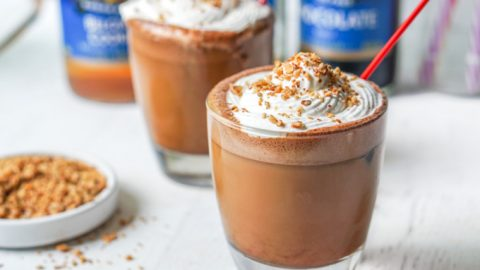 S'mores Keto Iced Bulletproof Coffee Drink – perfect summer pick me up!