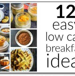 collage of 12 low carb breakfast ideas and text overlay