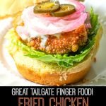 mini fried chicken slider with text overlay