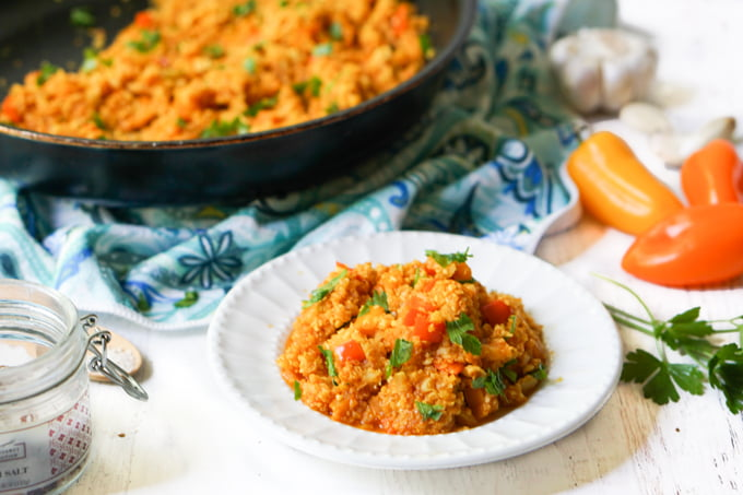 Low Carb Spanish Cauliflower Rice Recipe – easy tasty side dish