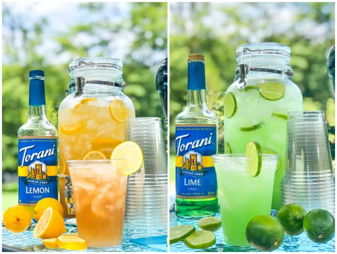 Keto Tailgating Drinks - Margarita Punch & Spiked Iced Tea