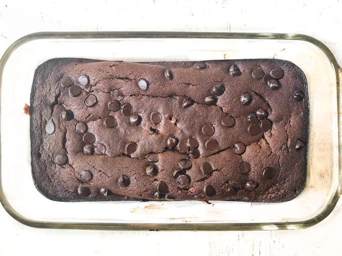 blender container with chocolate zucchini bread batter