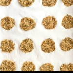 low carb crackers on parchment paper with text overlay