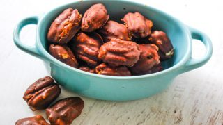 Low Carb Chocolate Covered Pecans with Peanut Butter Filling Recipe