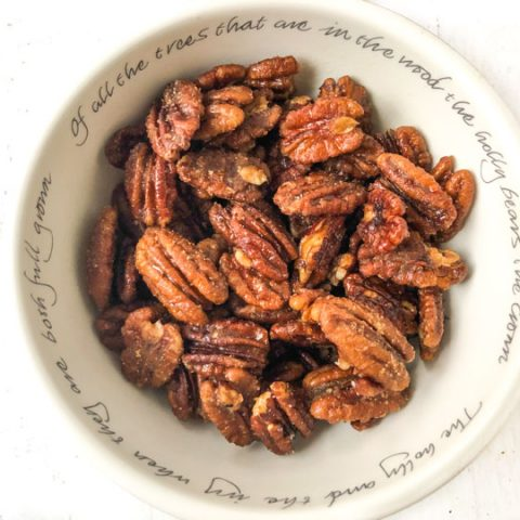 Sugar Free Keto Candied Pecans in 15 minutes