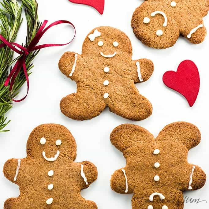 Keto Sugar-free Low Carb Gingerbread Cookies