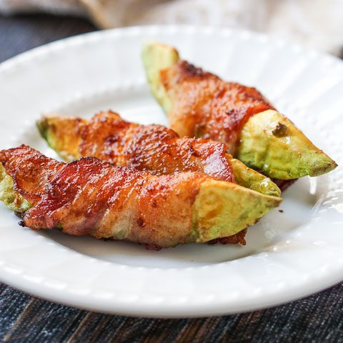 Easy Keto Bacon Wrapped Avocado Fries (Air Fryer)