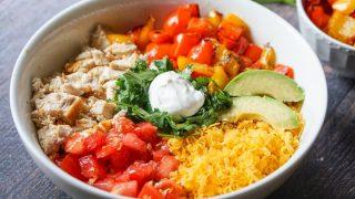 Easy Healthy Keto Burrito Bowl