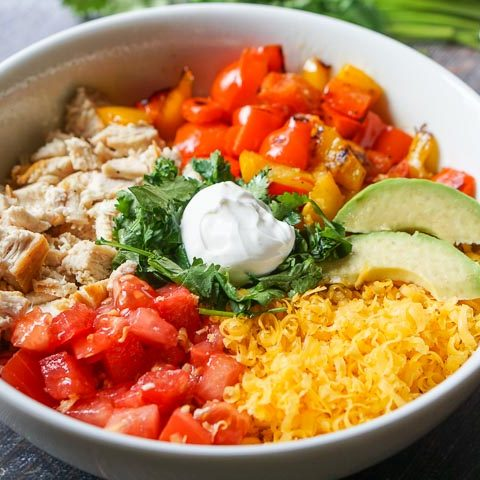 Easy Healthy Keto Burrito Bowl