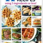 collage of easy keto dinner recipes with text