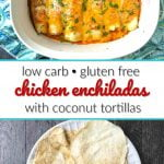 keto chicken enchiladas with text
