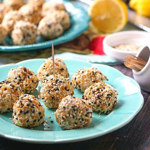 Keto Salmon and Cream Cheese Ball Bites