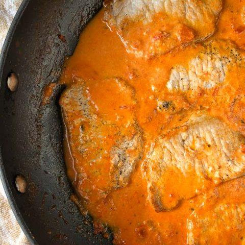 Easy Keto Creamy Tomato Pork Chops
