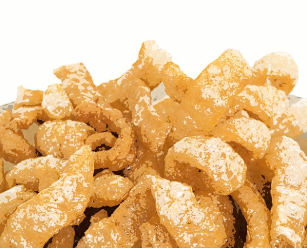 posterized closeup of pork rinds