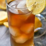 glass with keto Long Island ice tea with text