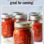 jars of homemade low carb salsa made in slow cooker with text