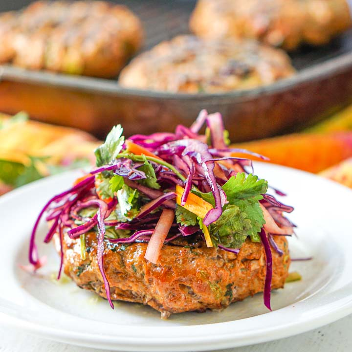 Thai Flavored Keto Turkey Burgers