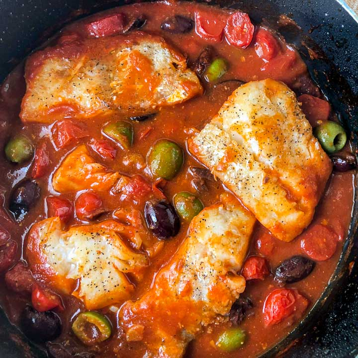 Mediterranean Cod Skillet Easy Keto Fish Dinner In 30 Minutes My Life Cookbook