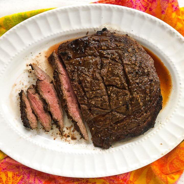 Easy Keto Flank Steak with Garlic Balsamic Marinade