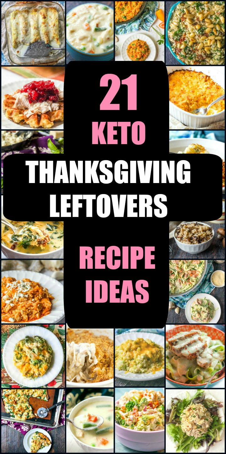 collage of pictures of turkey leftover recipes with text overlay