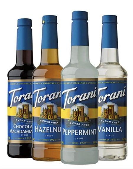 4 bottle of Torani sugar free syrup