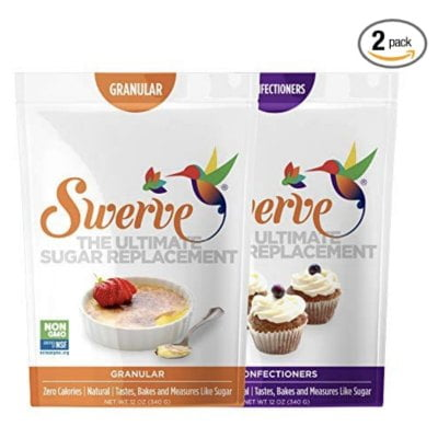 a bag each of Swerve granular and confectioners sugar