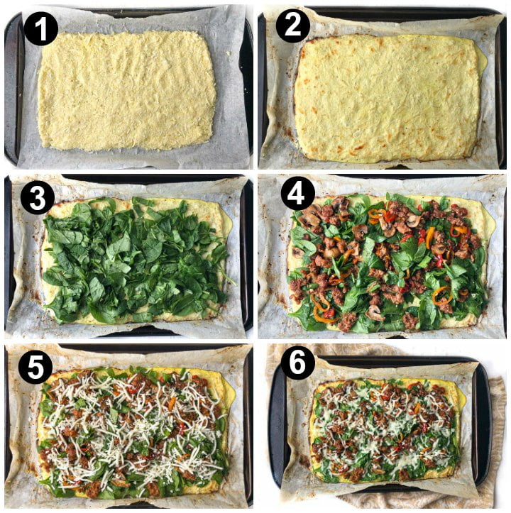 collage of each step to make this recipe