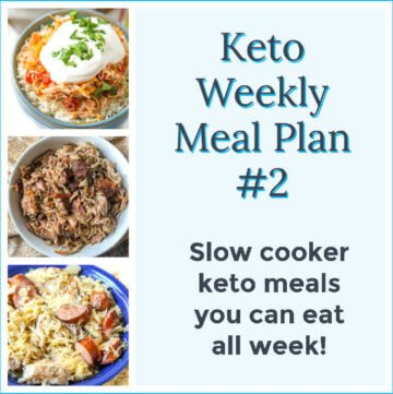 collage of slow cooker meals with text