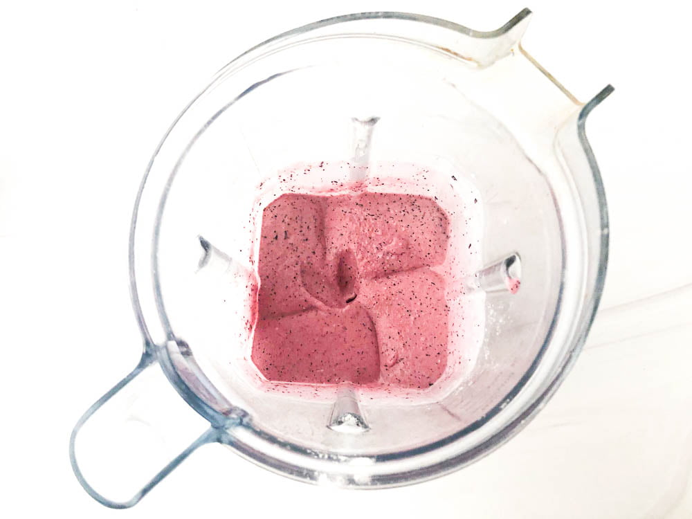 Vitamix blender with low carb blueberry blender ice cream