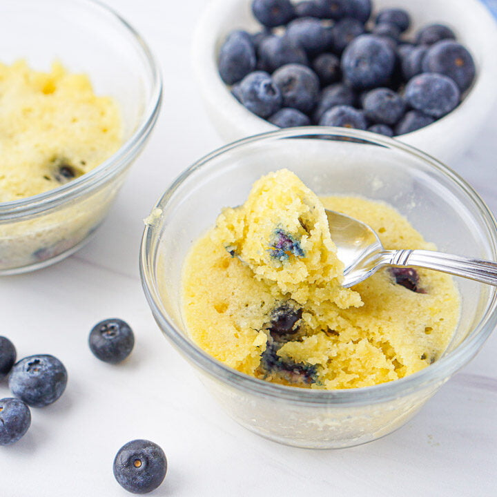 Keto Blueberry Muffin - 1 minute in the microwave!