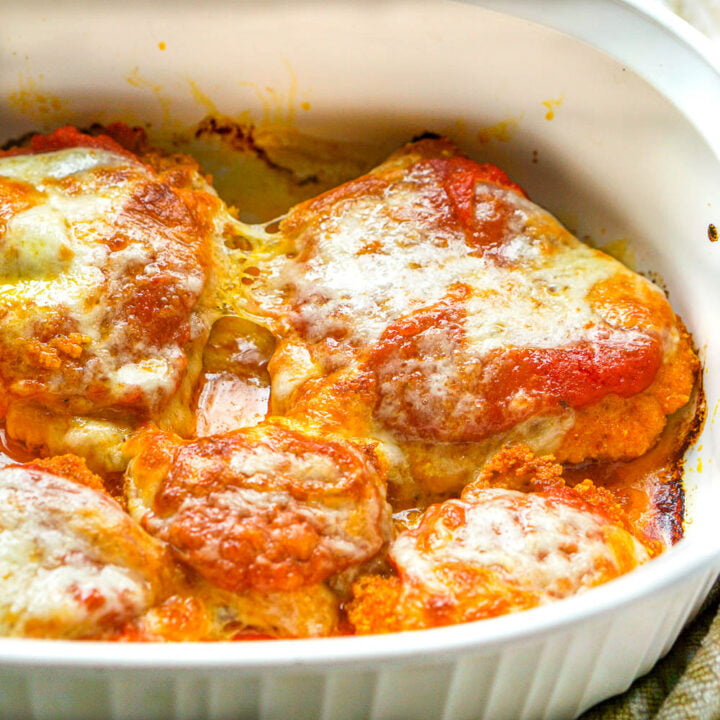 Low Carb Chicken Parmesan Dinner
