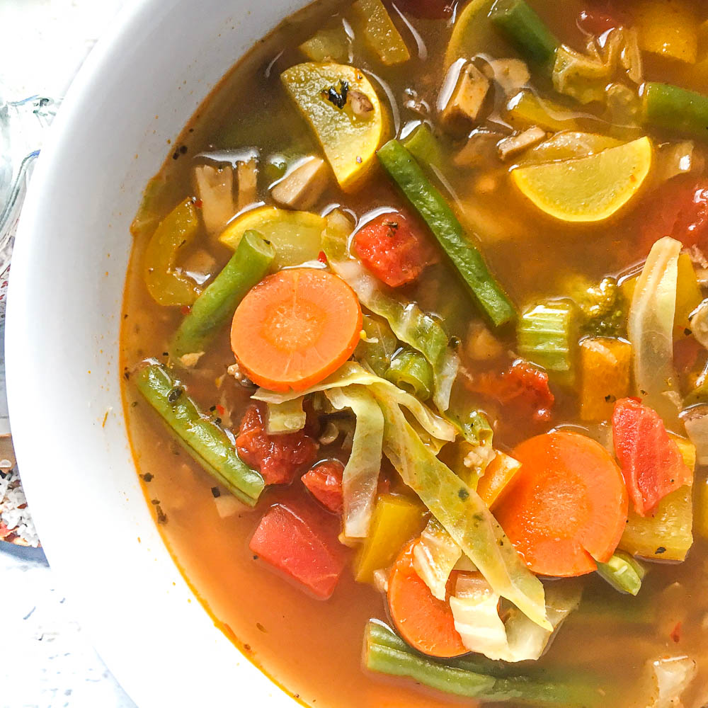 Tasty Low Calorie Low Carb Vegetable Soup Recipe   My Life Cookbook