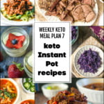 collage of pics for keto meal plan of instant pot recipes