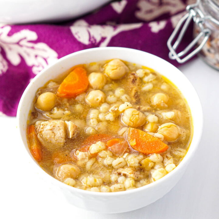 Hearty Chicken Barley Soup in the Instant Pot