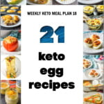collage of pictures of keto egg recipes with text
