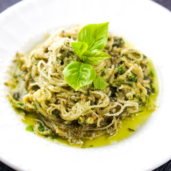 Low Carb Pesto Turnip Noodles