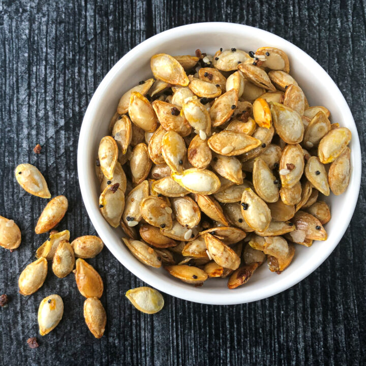 Toasted Microwave Squash Seeds Recipe